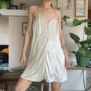 Vintage Josie of France Nude Slip Dress